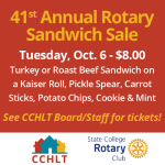 Rotary Sandwich Sale with CCHLT - October 6