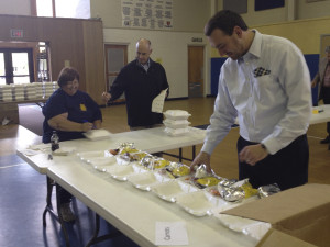 Rotary Sandwich Sale with CCHLT Board of Directors