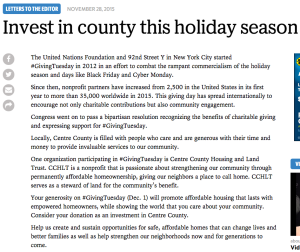 Invest in county this holiday season
