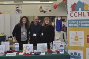 Super Fair Photos: Centre County Housing & Land Trust at 2016 Super Fair with Rachel Fawcett, ED, and Board members George Khoury & Mary Wilson